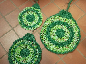 Sue's Crochet Large Ornaments from Plastic Bags