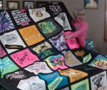 Nancy's Grandaughter's T-Shirt Quilt