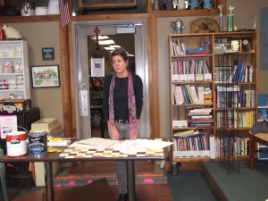 Kristine Kjos of the Commercial Gallery in Alma